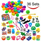 Toys : 36 Toys Filled Easter Eggs, 2.25 Inches Bright Colorful Prefilled Plastic Surprise Eggs with 18 Kinds Popular Toys for Easter Basket Stuffers Fillers, Egg Hunt Party, etc. by Joyin Toy