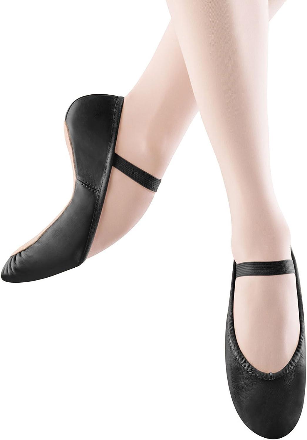 Black 7 D Us BLOCH Dance Womens Dansoft Full Sole Leather Ballet Slipper//Shoe