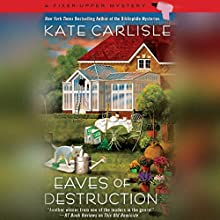 Eaves of Destruction Audiobook by Kate Carlisle Narrated by Angela Starling