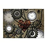 CafePress - Steampunk - Decorative Area Rug, 5'x7' Throw Rug
