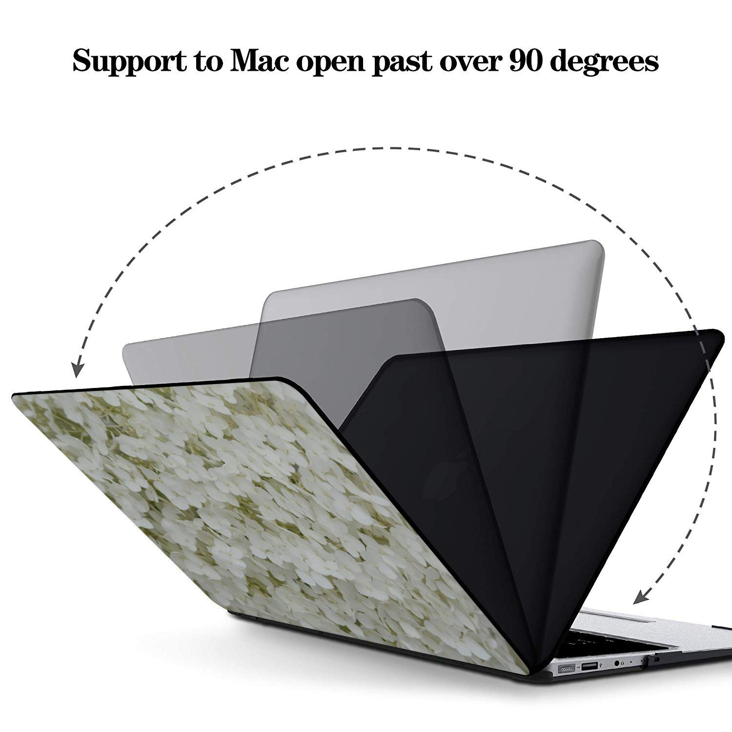 MacBook Pro Case 2015 White Spring Romantic Flower Fragrant Plastic Hard Shell Compatible Mac Air 11 Pro 13 15 MacBook 2018 Case Protection for MacBook 2016-2019 Version