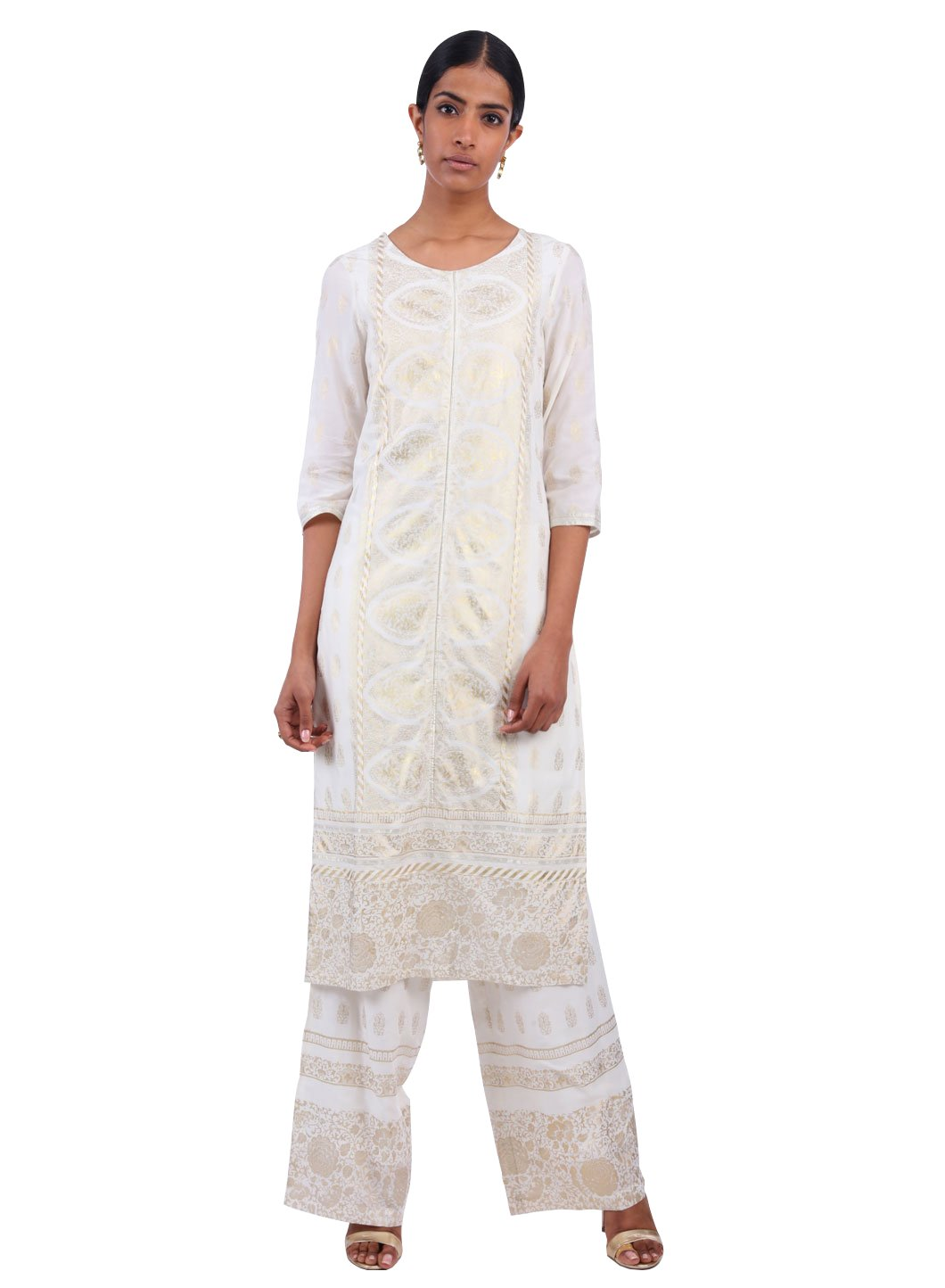 W for Woman Light Occasionwear Kurta White