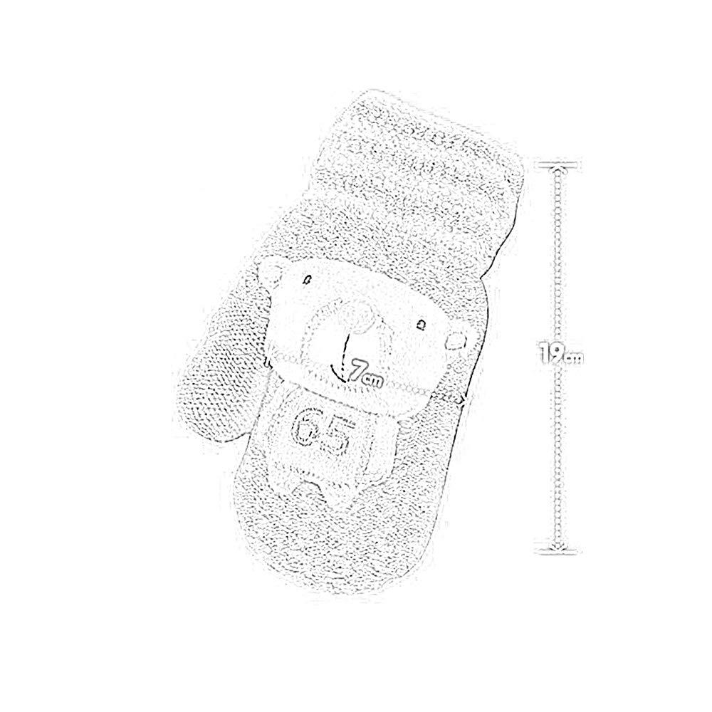 GUANTES Xiaolin Infantiles Lindos, Masculinos y Femeninos, Invierno, Escuela cálida para Escribir, Dibujos Animados, cordón Grueso para mantenerlos en Forma ...