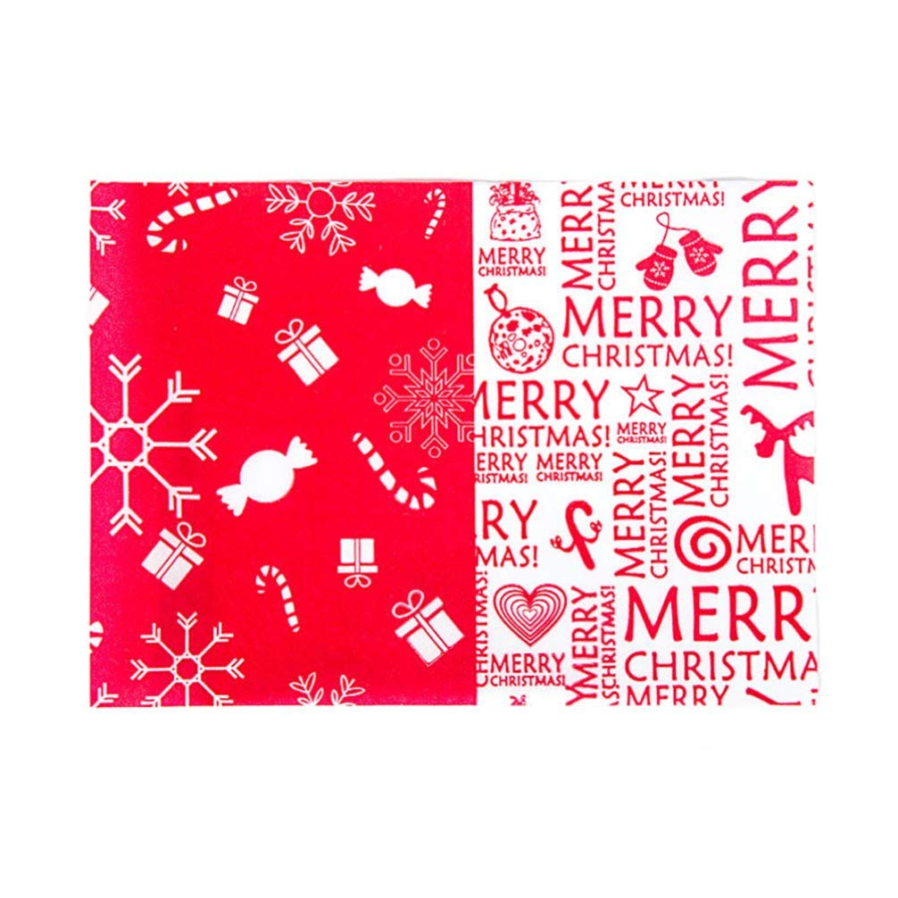 500 Pcs DIY Handmade Merry Christmas Candy Wrappers Twisting Wax Caramel Wrapping Paper
