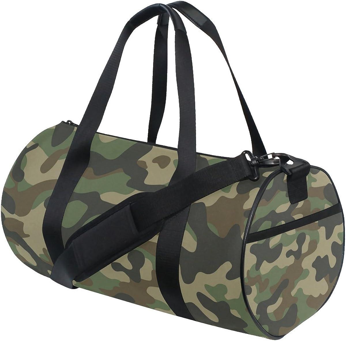 ALAZA Stylish Military Camouflage Sports Gym Duffel Bag Travel Luggage Handbag for Men Women