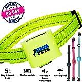 JinjaPets Anti-Bark Dog Collar No shock Vibrate Waterproof Humane Instant (Green)