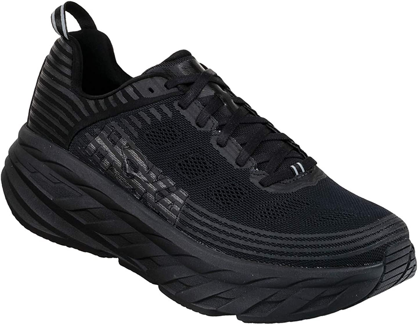 HOKA ONE ONE Mens Bondi 6 Running Shoe 10.5 EE US, Black Black