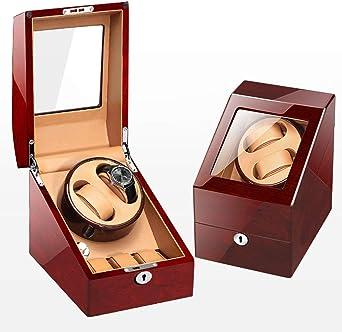 Caja Relojes Automaticos Rotador automático de Relojes con Caja de Almacenamiento de Cuero 2 + 3 (Color : A): Amazon.es: Relojes