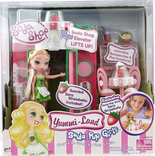 Yummi-Land Soda Pop Girls - Soda Shop with Exclusive Sara Strawbella Doll