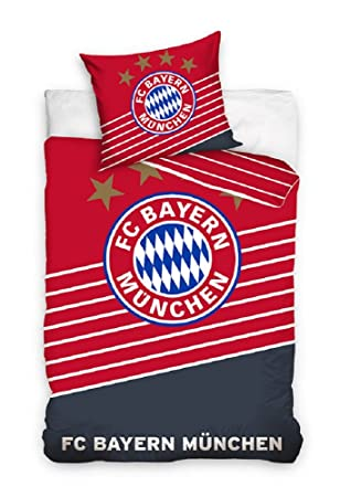 Fc Bayern München Bettwäsche Bettbezug Set Fußball 160x200 Rot
