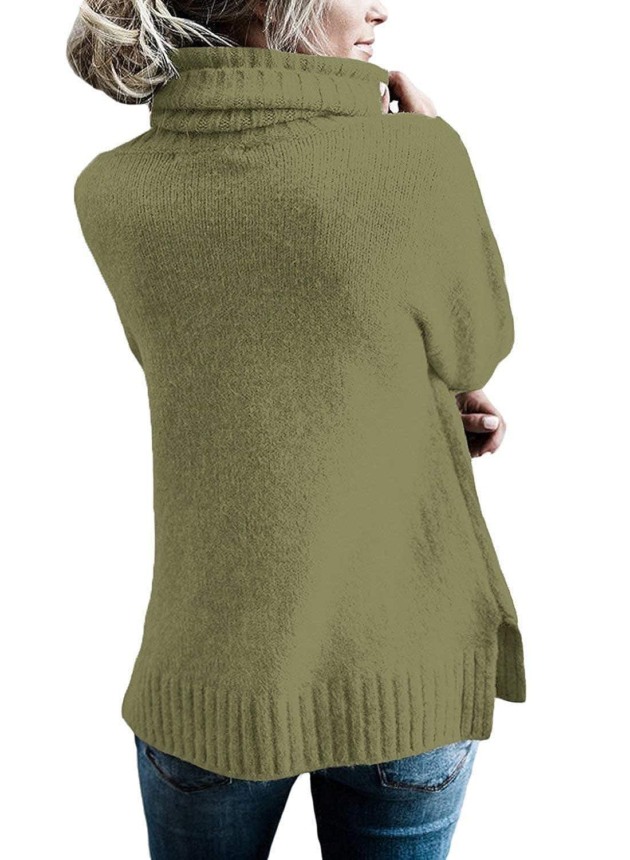 BOLAWOO Sudaderas Mujer Otoño Invierno Elegante Pullover Irregular Cuello  Alto Mode De Marca Manga Largo Anchos ... c34c3a27feaf