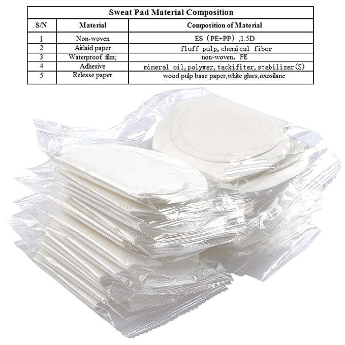 BUYGOO 80 Piezas Sudor Almohadillas Absorbentes de Transpiración Axilas Antitranspirante Pads Suave Protección contra el Sudor Y Desodorante Manchas ...