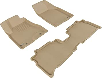 Gray Kagu Rubber 3D MAXpider Complete Set Custom Fit All-Weather Floor Mat for Select Lexus RX350//450H Models