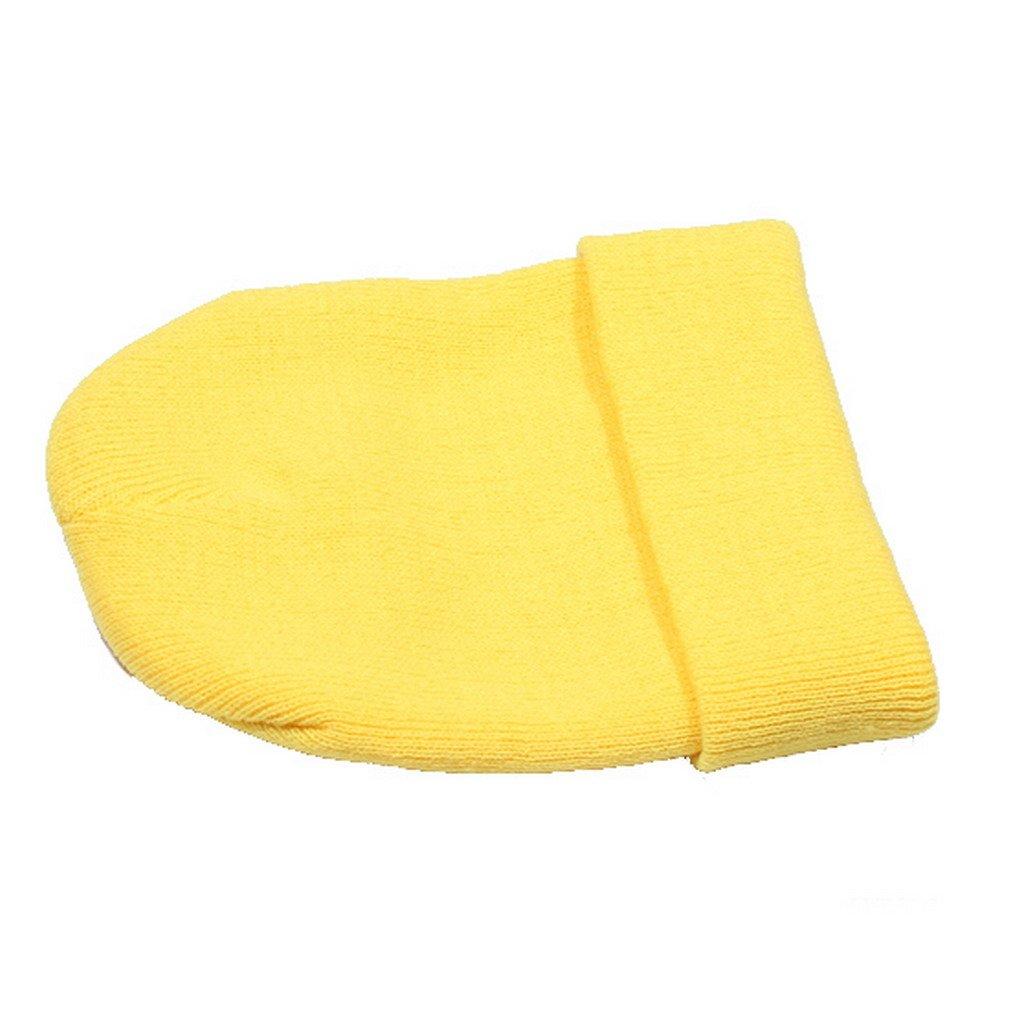 Smile YKK Women Men Winter Elastic Slouchy Beanie Ski Cap Yellow