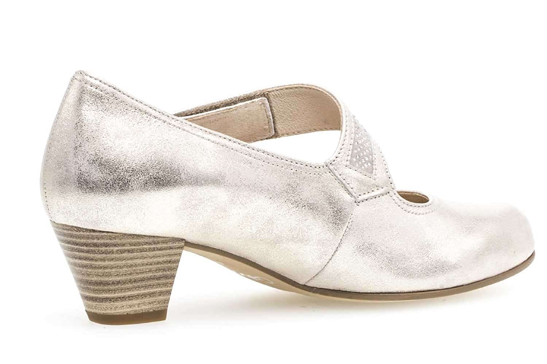Gabor Sandalen grün Veloursleder Damen Schuhe Trotteurabsatz