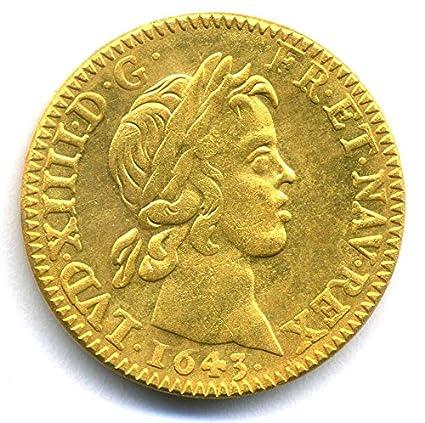 Piece 1643 Franc France France De Louis D Or Louis Xiv Replica