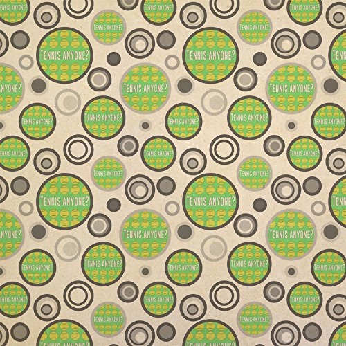 - Tennis Anyone Kraft Present Gift Wrap Wrapping Paper