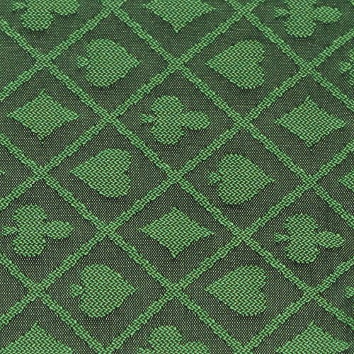 (10' section of green two-tone poker table speed cloth - Polyester by Brybelly)