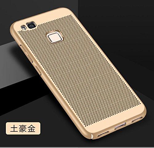 Funda Huawei P9 Lite,Alta Calidad Ultra Slim Anti-Rasguño y Resistente Huellas Dactilares Totalmente Protectora Caso de Plástico Duro Case,Cuadrícula Disipación de calor Antideslizante Cover(YQ4-1) C