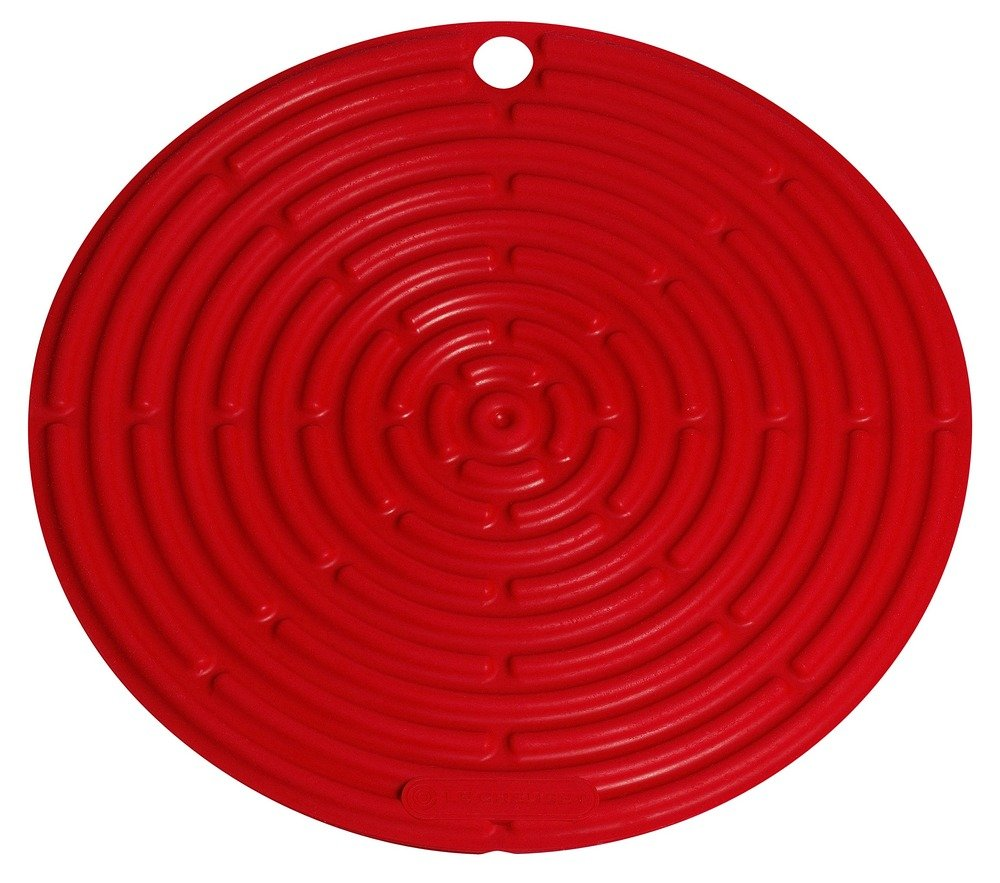"""Le Creuset Silicone 8"""" Round Cool Tool, Cerise (Cherry Red)"""