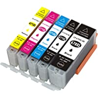 GREENBOX Compatible Ink Cartridge Replacement for Canon PGI-670XL CLI-671XL (1 Large Black, 1 Small Black, 1 Cyan, 1 Magenta, 1 Yellow) 5 Pack Works for Canon Pixma MG5760 MG5765 MG5766 MG6860 MG7760