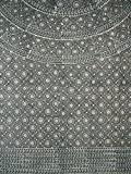 Block Print Mandala Tapestry Cotton Bedspread 108'' x 88'' Full-Queen Gray
