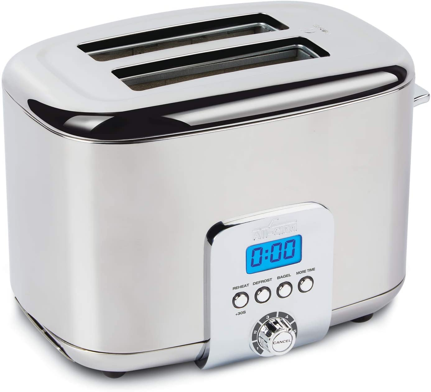 All-Clad TJ822D51 Stainless Steel Digital Toaster with Extra Wide Slot, 2-Slice, Silver
