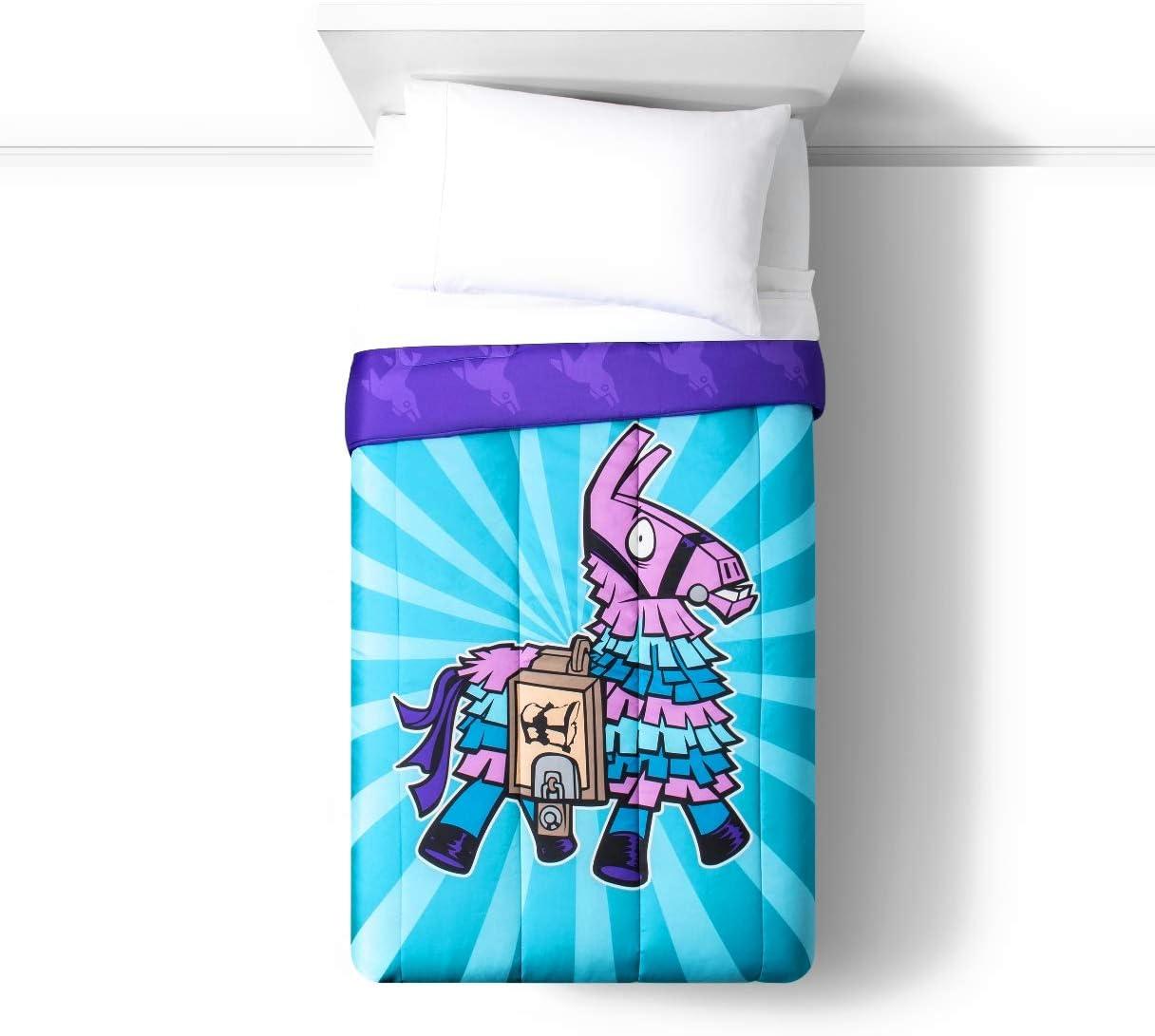 Fortnite Bedding Twin Sheet Set and Microfiber Comforter - Llama Design