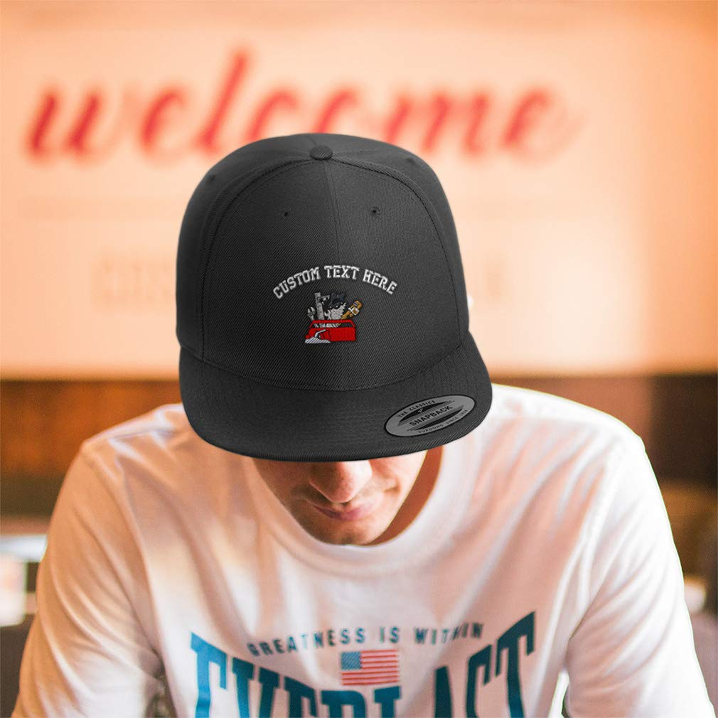 Custom Snapback Baseball Cap Tool Box Embroidery Design Acrylic Cap Snaps