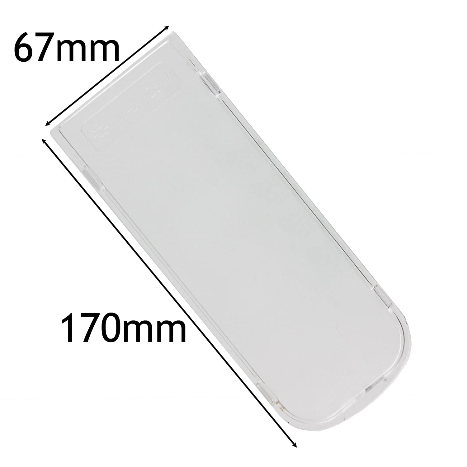 Spares2go Cooker Hood Light Diffuser / Lens Cover Plate (170Mm X 67Mm)