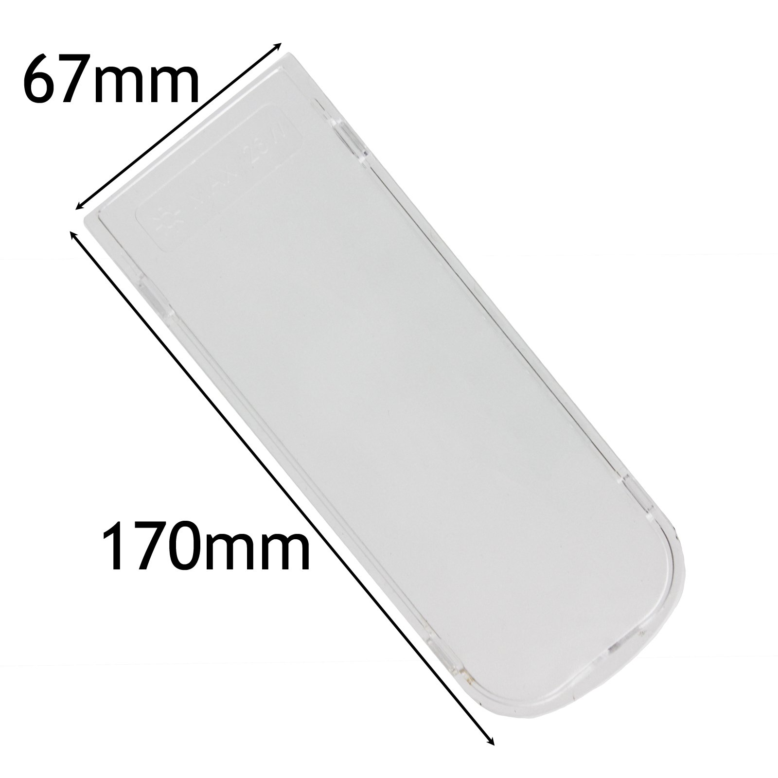 Spares2go Cooker Hood Light Diffuser/Lens Cover Plate (170Mm X 67Mm)