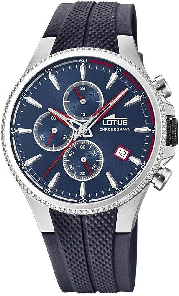 Lotus 18621/1 - Reloj Cronógrafo para Hombre, de Cuarzo con Correa en Caucho