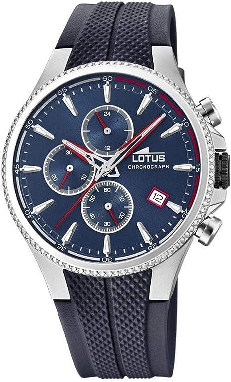 Lotus 18621/1 - Reloj Cronógrafo para Hombre, de Cuarzo con Correa en Caucho: Amazon.es: Relojes