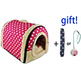ANPI 2 en 1 Casa y Sofá para Mascotas, Lavable a Máquina Casa Nido Cueva Cama de Perro Gato…