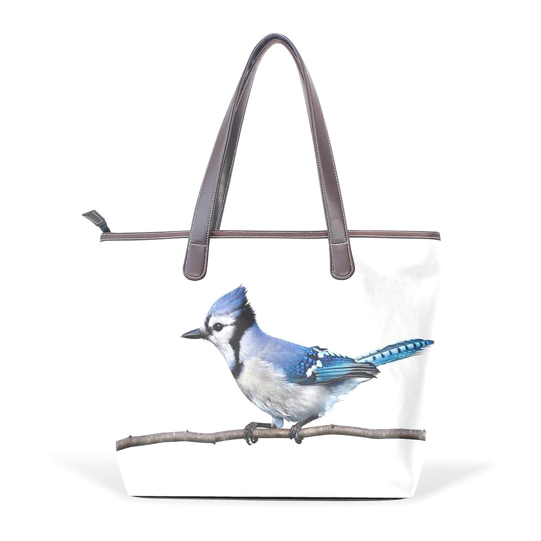 WDYSECRET Blue Jays Women's Pu Leather Handbag Shoulder Bag Zipper Shopping Bag