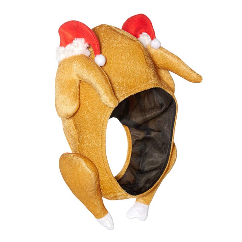 YeahiBaby Sombrero de Pavo Divertido Felpa Acci/ón de Gracias Traje de Pavo Adulto Acci/ón de Gracias Disfraces de Halloween Regalo Regalo