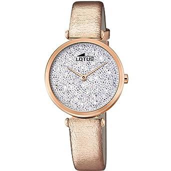 Lotus Reloj Analógico para Mujer de Cuarzo con Correa en Cuero 18608/1: Amazon.es: Relojes
