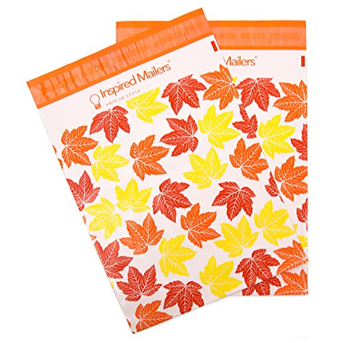 Inspired Mailers Poly Mailers 10x13 Autumn Leaves – Pack of 100 – Unpadded Shipping Bags by Inspired Mailers (Image #7)