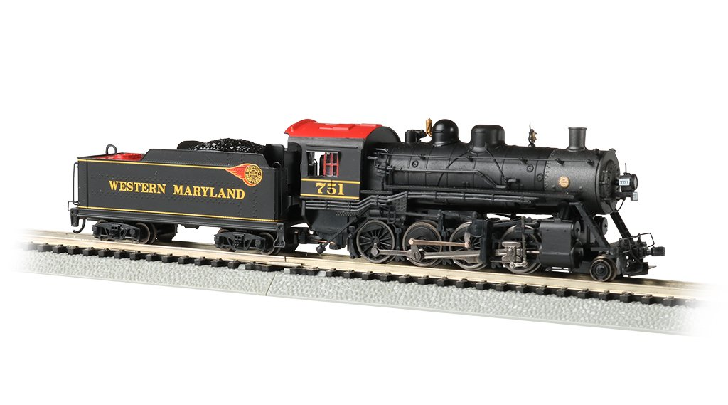 Baldwin 2-8-0 DCC Sound Value Econami Equipped Locomotive - Western Maryland #751 - N Scale