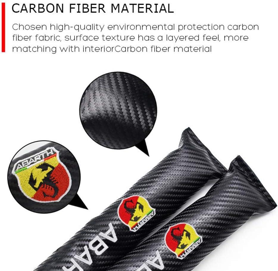 2x Seat Gap Filler Organizer Leak Proof Pad Carbon Fiber Car Accessories For Fiat Abarth 500 595 124