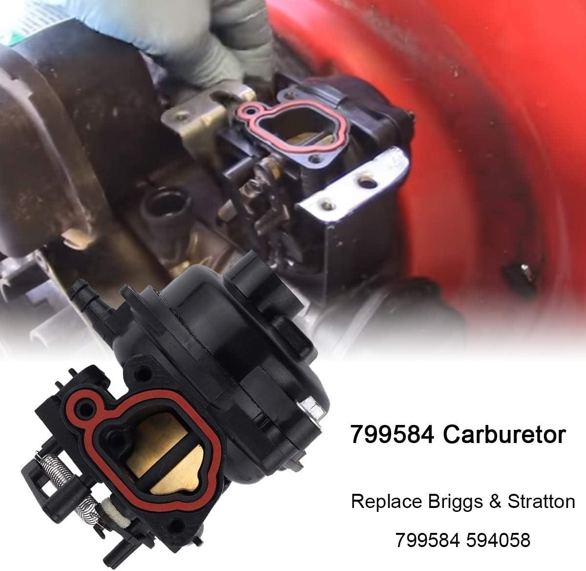 N//C ZAMDOE 799584 Carburetor Accessories Fits Troy Bilt TB200 TB110 TB554 Lawnmower 675EX 140cc Engines Briggs /& Stratton 799584 594058 550EX 725EXI 625EX