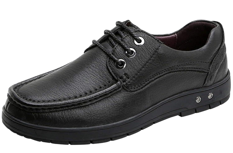 RSHENG Männer Geschnürt Freizeitschuhe Geschäft Casual Schuhe Bequem Weichen Boden