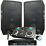Rock The House DJ System - 4100 WATT DJ System - Connect your Laptop, iPod, USB, MP3\'s or Cd\'s! 15\