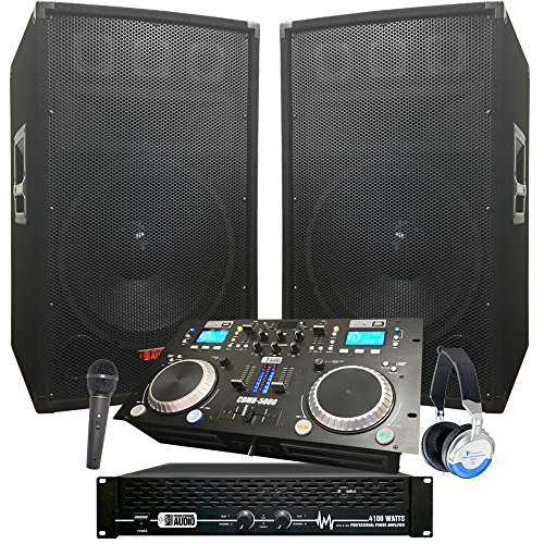 - Rock The House DJ System - 4100 WATT DJ System - Connect your Laptop, iPod, USB, MP3's or Cd's! 15
