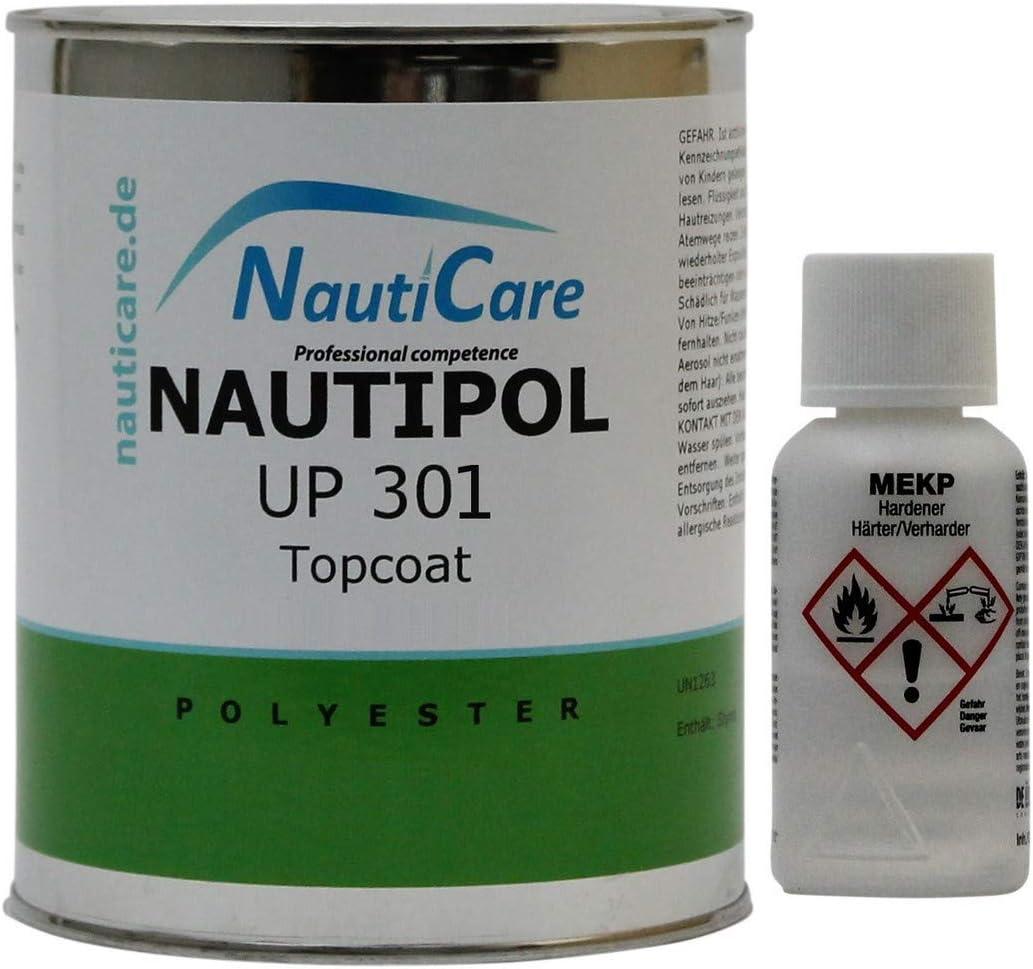 NautiCare nautipol Up 301 Topcoat 850 g – 35 RAL Colores – Resina de poliéster (Resina de poliéster sin estireno, sin mekp Endurecedor)