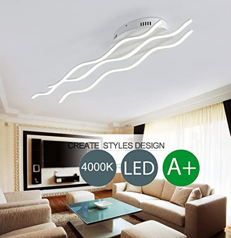 Minimalis Welle Forme Design Couverture Lampe Led Moderne Salon