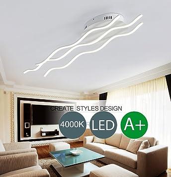 Minimalistische Wellenform Design Deckenlampe LED Modern Wohnzimmer ...