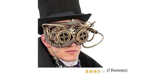 talla /única dorado Carnival Toys 1765/M/áscara Steampunk Medio Viso