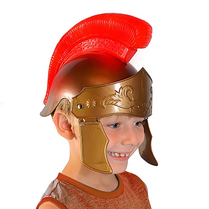 Funny Party Hats Roman Helmet Kids - Soldier Helmets for Kids - Light Up  Gladiator Helmet - Roman Legion Helmet