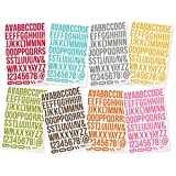 Sn@p! Cardstock Stickers 4.5in X 6.5in Sheets 8/Pkg-letters